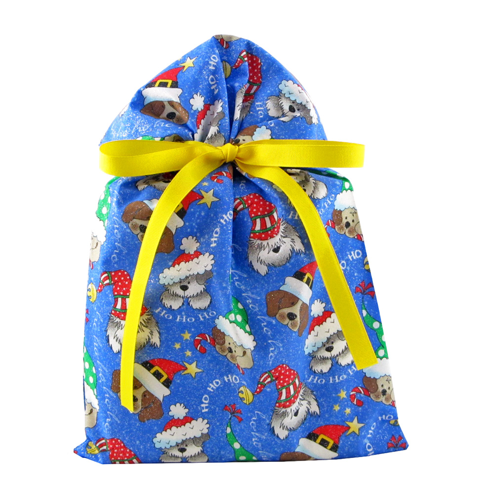 Holiday Dogs Reusable Christmas Gift Bag - VZWraps™