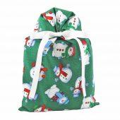 Snowmen-on-green-standard-Christmas-gift-bag