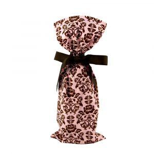 Pink Damask Wine Bag