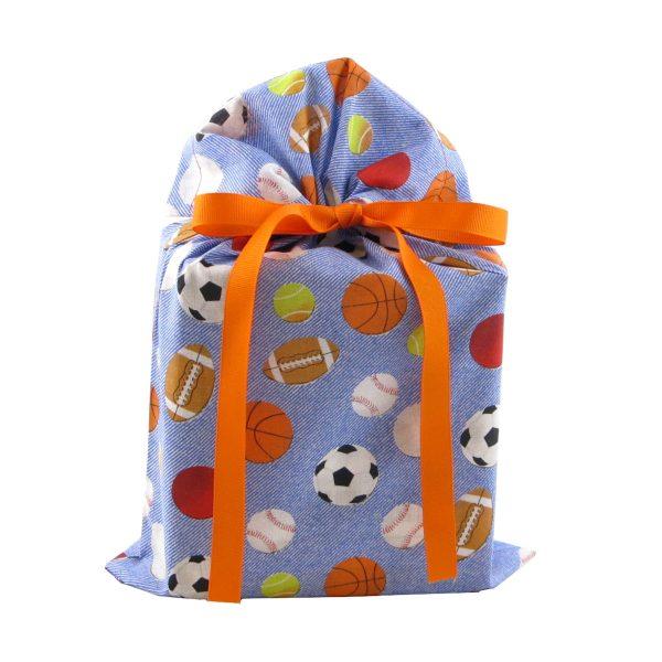 Reusable-Fabric-Gift-Bag-Standard-with-Sports-theme
