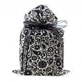 Black-Flowers-Swirls-Reusable-Gift-Bag-Standard