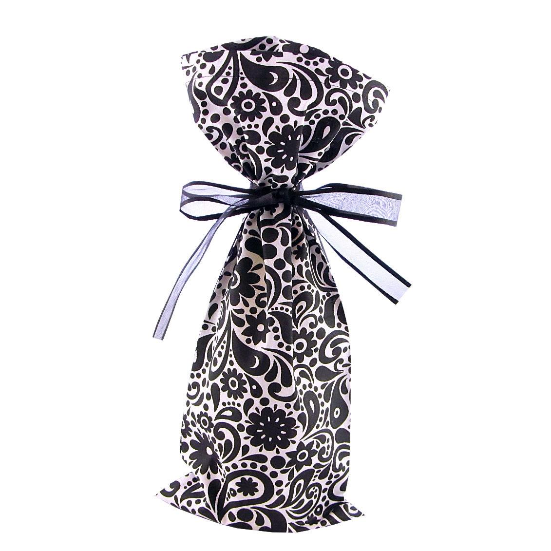 Black-flowers-swirls-wine-bag