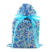 Blue-floral-reusable-fabric-gift-bag