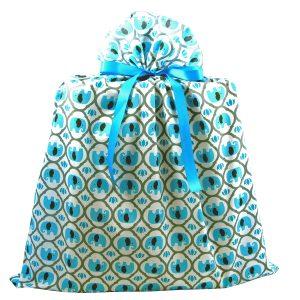 Jumbo-Turquoise-Elephants-Fabric-Baby-Gift-Bag