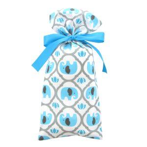 Skinny-Fabric-Gift-Bag-Turquoise-Elephants