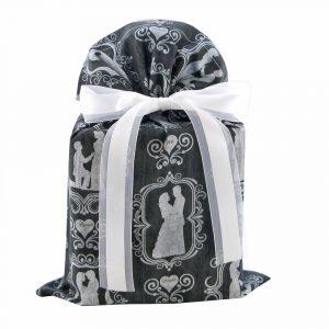 Black wedding gift bag standard