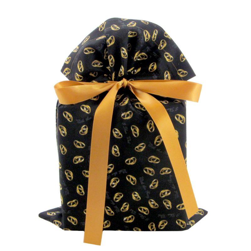 Wedding-rings-black-fabric-gift-bag-standard