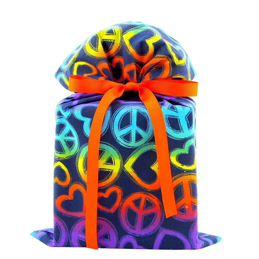 Peace-and-love-fabric-gift-bag-standard