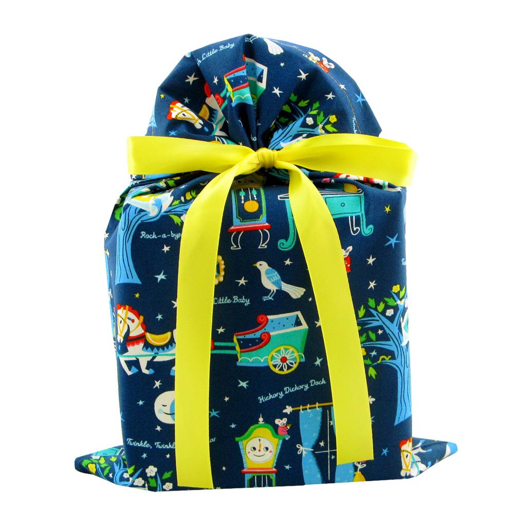 Nursery-rhymes-gift-bag-dark-blue-standard