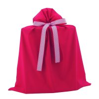 Red Jumbo Gift Bag with Chevron Ribbon