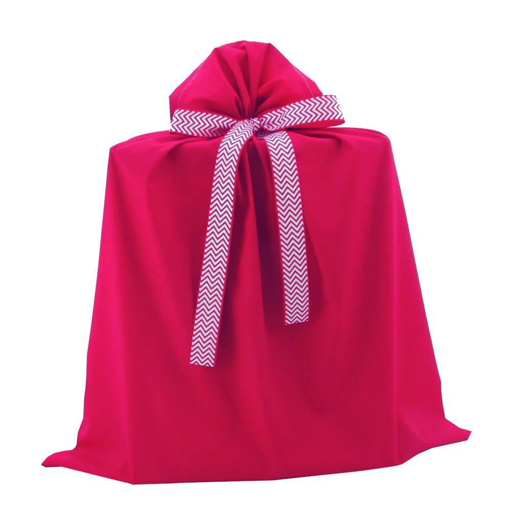 Red Jumbo Gift Bag with Chevron Ribbon