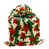 Poinsettias-gift-bag-large-with-green-ribbon