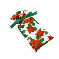 Wine-skinny-gift-bag-red-poinsettias-green-ribbon