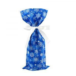 Snowflakes-Gift-Bag-Wine-Skinny-Blue