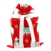 Christmas-gift-bag-with-llamas-red-standard