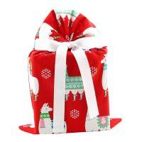 Christmas-gift-bag-with-llamas-red-standard