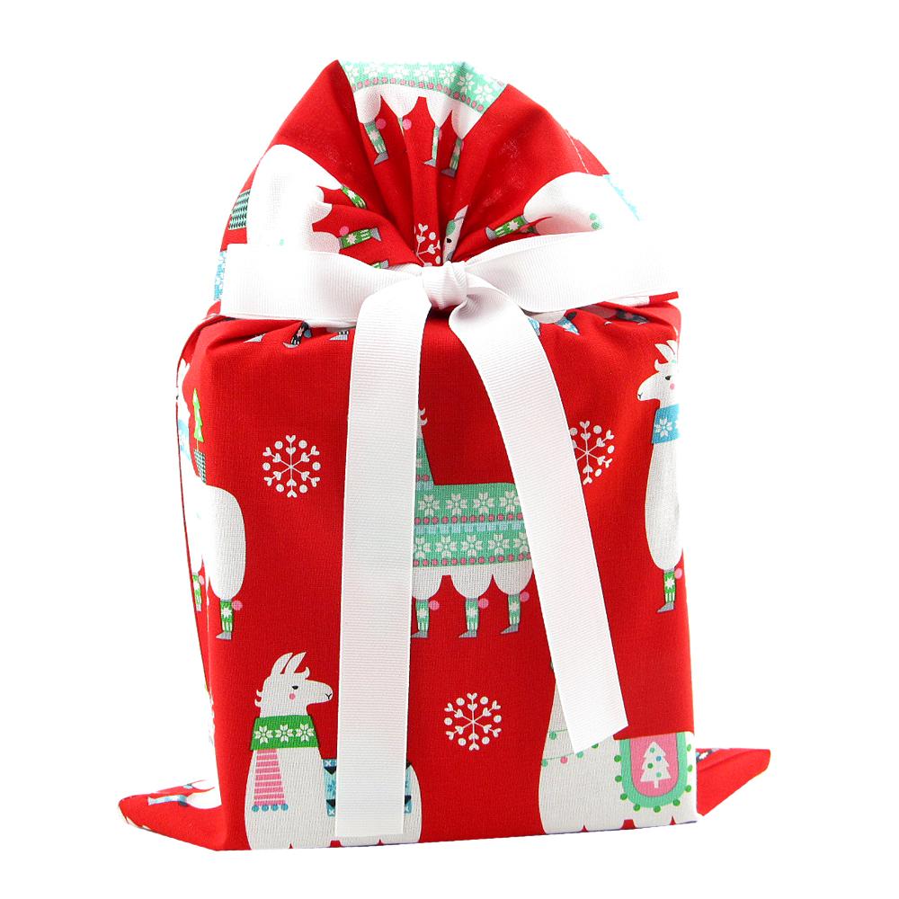 Christmas-gift-bag-llamas-standard-red
