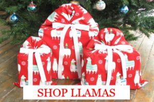 Llamas-christmas-gift-bags-under-tree