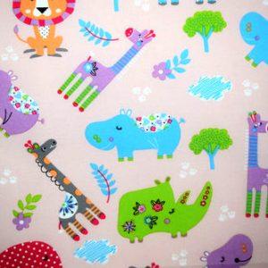 Pink-Jungle-Animals-Fabric-Swatch
