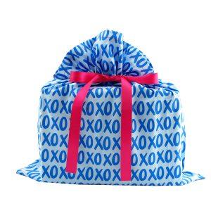 Blue-medium-gift-bag-XOXO-A148