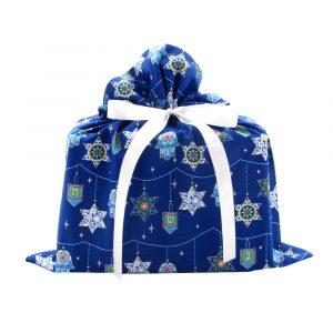Medium Hanukkah Gift Bag in Blue