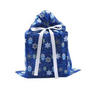 Hanukkah Gift Bag in Blue Large