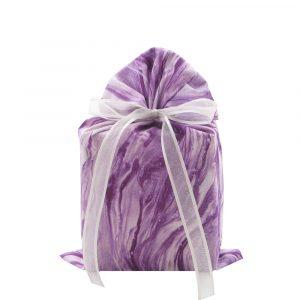 Purple fabric gift bag standard