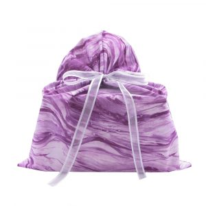 Purple fabric gift bag Medium