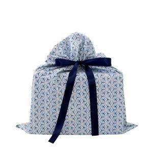 Medium-blue-gray-floral-gift-bag