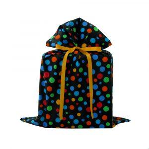 Large-fabric-gift-bag-black-polka-dots