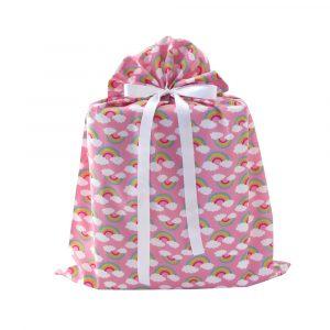 Large-pink-rainbows-cloth-gift-bag
