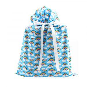 Blue-Rainbows-fabric-gift-bag-large