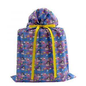 Unicorns-rainbows-cloth-gift-bag-large
