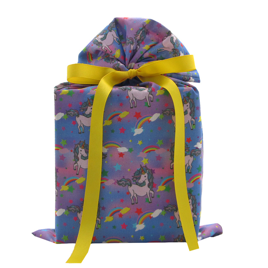 Fabric-gift-bag-with-unicorns