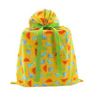 Large-yellow-dinosaur-fabric-gift-bag