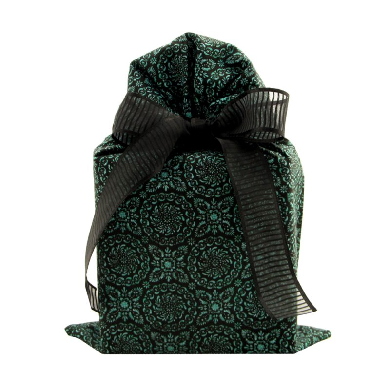 Green-and-black-fabric-gift-bag-standard