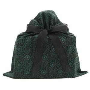 Medium-green-black-cloth-gift-bag
