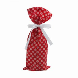 Snowflakes-on-red-wine-bag
